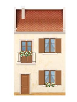 Casa di città europea tradizionale.