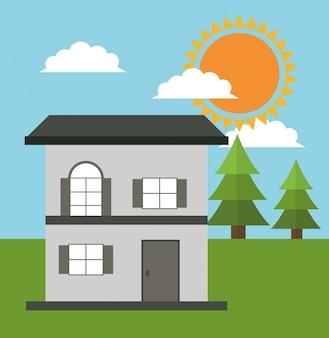 Casa familiare cottage energia eco solare