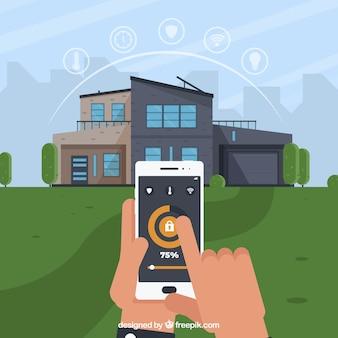 Casa intelligente con controllo smartphone