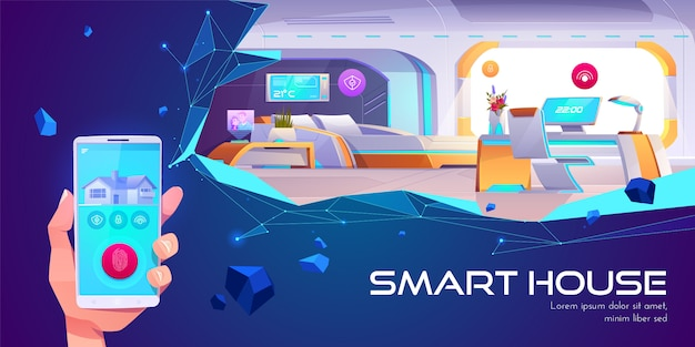 Casa intelligente e tecnologia di intelligenza artificiale