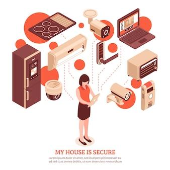 Casa intelligente isometrica