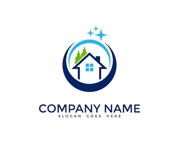 Casa pulizia logo design