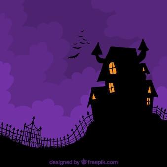 Casa sfondo incantato