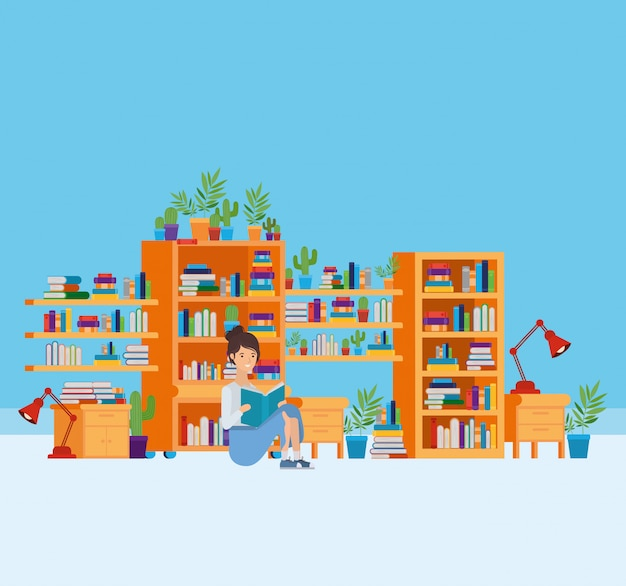 Casa studio con libri