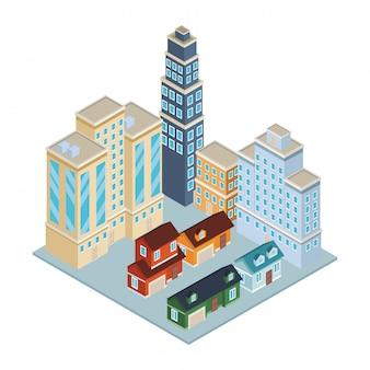 Case ed edifici isometrici