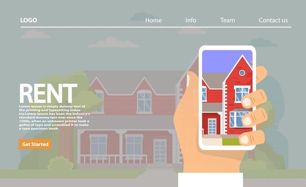 Case in affitto landing page