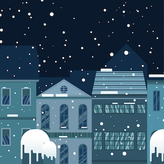 Case nell'illustrazione della città