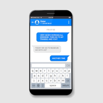Caselle di chat dal vivo per telefoni cellulari. finestra di messenger.