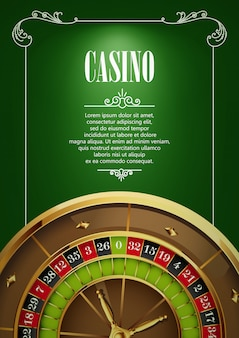 Casino logo poster background