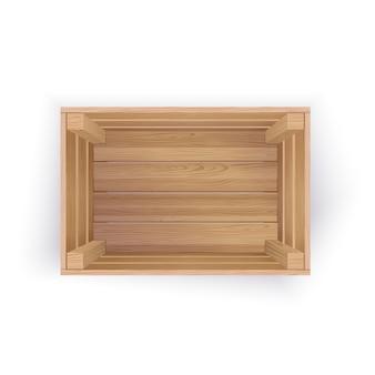 Cassa di legno vuota