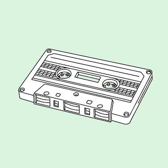 Cassetta compatta vintage