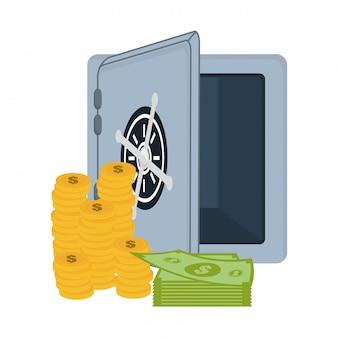 Cassetta di sicurezza con soldi