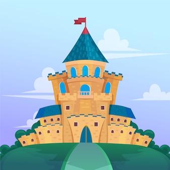 Castello da favola design piatto