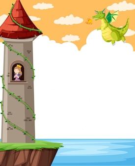 Castello di fantasia con principessa