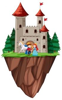 Castello di principe e principessa isolato