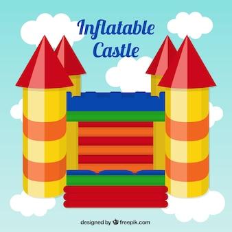 Castello gonfiabile colorato