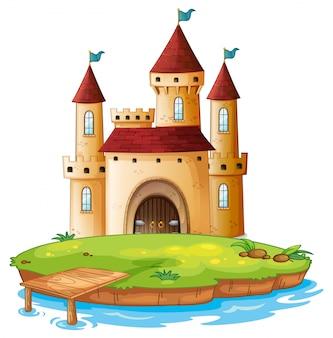 Castello isolato su sfondo bianco