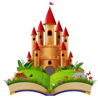 Castello nel libro di fiabe