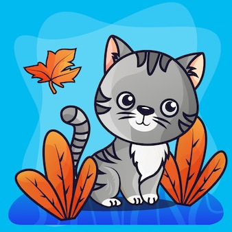 Cat gradient illustration vector sveglia