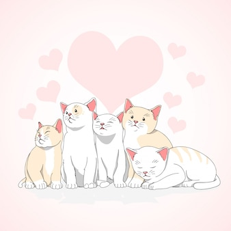 Cat love cute