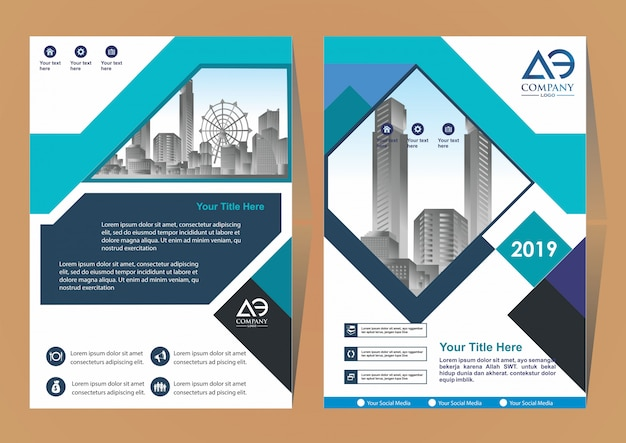 Catalogo di riviste brochure di layout di copertura creativo