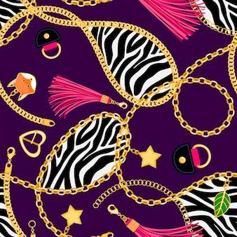 Catene zebra senza cuciture