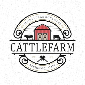 Cattlefarm logo vintage