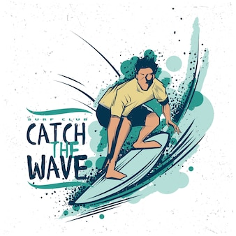 Cattura l'illustrazione dell'onda