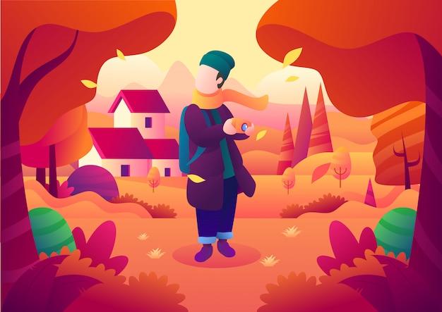 Cattura la bellezza dell'autunno in un posto bellissimo