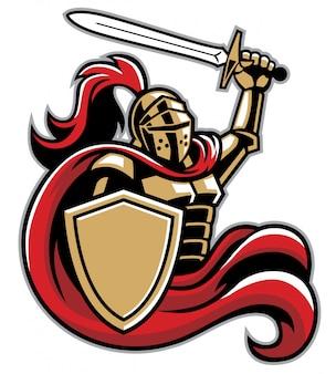 Cavaliere con scudo e spada