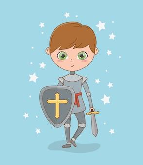 Cavaliere medievale di design da favola