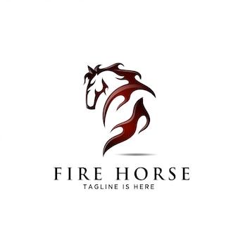 Cavallo indietro fuoco, culo vista posteriore logo cavallo laterale