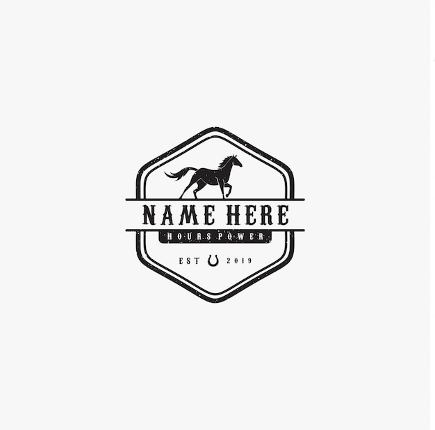 Cavallo nero vintage