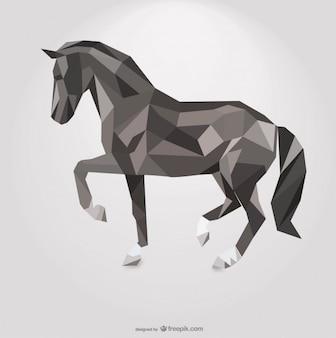 Cavallo poligonale disegno geometrico del triangolo