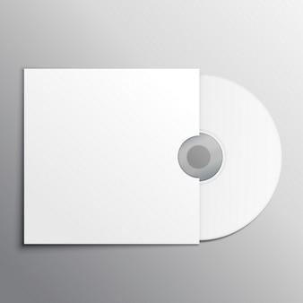 Cd dvd modello di presentazione mockup