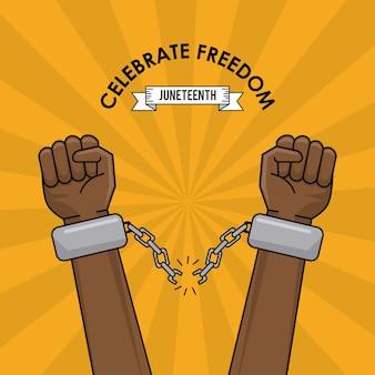 Celebra la libertà di razza contro l'immagine di spirito razzista