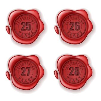 Celebrando il sigillo di cera biglietto d'auguri 25-28 anni