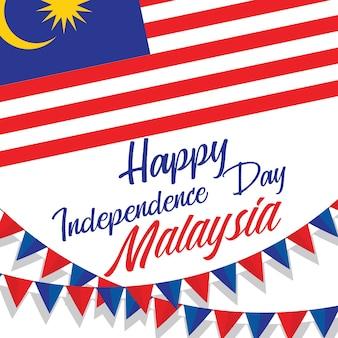 Celebrando la felice festa dell'indipendenza della malesia