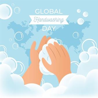Celebrare l'evento della giornata mondiale del lavaggio delle mani