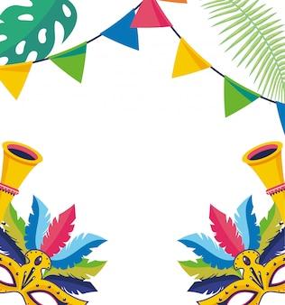 Celebrazione del carnevale sfondo brasile