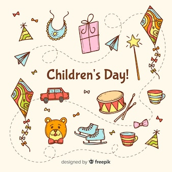 Celebrazione del giorno dei bambini con illustrazione artistica