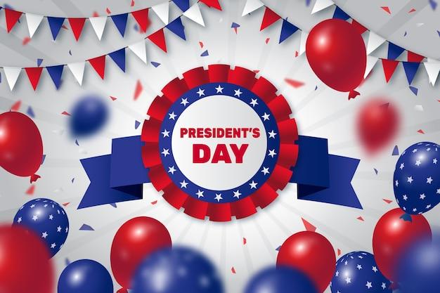 Celebrazione del giorno del presidente design piatto