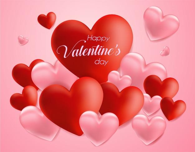 Celebrazione del giorno di san valentino con il fondo di forma del cuore di simbolo.
