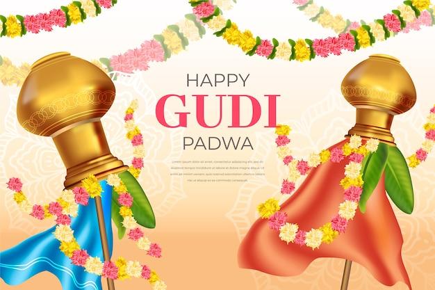 Celebrazione del giorno realistico di gudi padwa