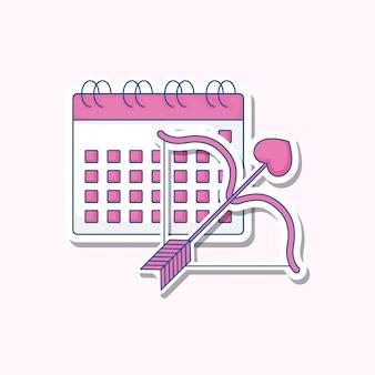 Celebrazione del matrimonio con calendario