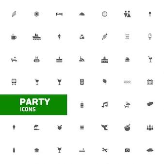 Celebrazione del partito set di icone