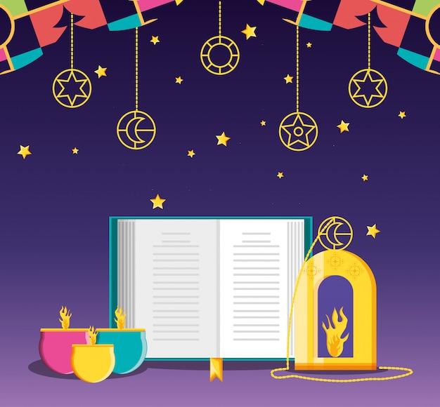 Celebrazione del ramadan kareen con il libro di loram