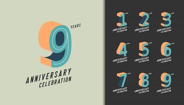 Celebrazione dell'anniversario moderno con colori pastello.