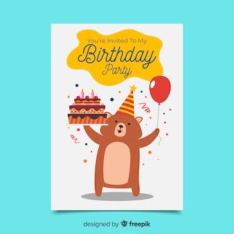 Celebrazione dell'invito festa di compleanno