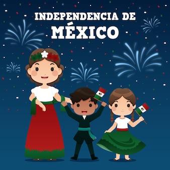 Celebrazione della festa dell'indipendenza del messico